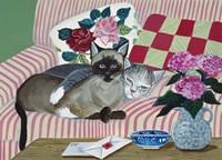 Mink And Jezebel Fine Art Print
