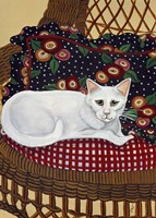 Snowball In A Wicker Chair Fine Art Print
