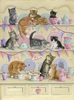 Kittens On Dresser Fine Art Print
