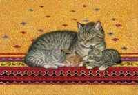 Mother And Kittens Fine Art Print