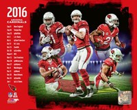 Arizona Cardinals 2016 Team Composite Fine Art Print