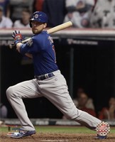 Ben Zobrist RBI Double Game 7 of the 2016 World Series Fine Art Print