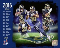 Los Angeles Rams 2016 Team Composite Fine Art Print