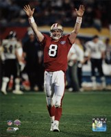 Steve Young Super Bowl XXIX Action Fine Art Print