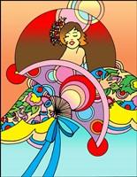 Art Deco Fan Lady Fine Art Print