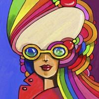 Pop Sunglasses Lady Fine Art Print