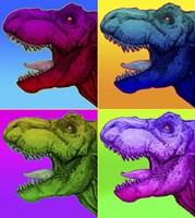 Pop Art Dinosaurs 1 Fine Art Print