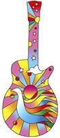 Pop Art Guitar Dove Fine Art Print