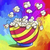 Pop Art Popcorn Bowl Fine Art Print