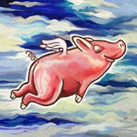 Flying Pig Fine Art Print