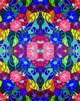 Pop Art Flowers Kalidescope Fine Art Print