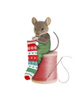 Mouse On Spool Fine Art Print