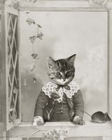 Cat And Mouse Fine Art Print