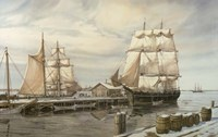 Drying Sails - New Bedford Fine Art Print
