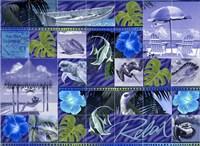 Blue Coastal Mosaic Fine Art Print
