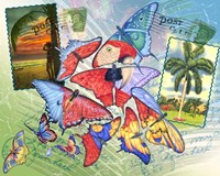Butterfly Postcards Fine Art Print