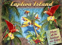 Parrot Palm Clipper Fine Art Print