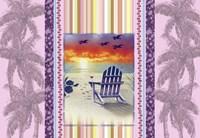 Sunset Chair Palm Fine Art Print