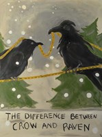 The Difference Between Crow And Raven Fine Art Print