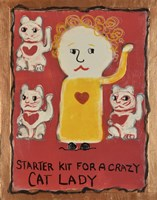 Cat Lady Fine Art Print