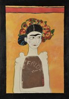 Frida Kahlo White Fine Art Print