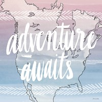 World Traveler Adventure Awaits Fine Art Print