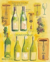 White Wine Collage Fine Art Print
