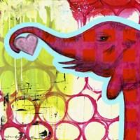 Hot Pink Elephant Fine Art Print