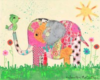 Mosaic Elephant Fine Art Print