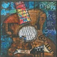Music Feeds The Soul - Guitar Fine Art Print