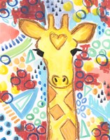 Watercolor - Giraffe Fine Art Print