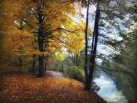 Autumn River View Fine Art Print