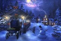 Snowman Crossing Fine Art Print