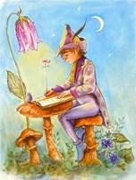 Elf Scribe Fine Art Print