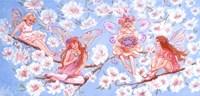 Four Fairies On A Branch Fine Art Print