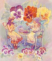 Pansy Fairies Fine Art Print