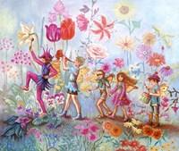 Parade Of Flowers Fine Art Print