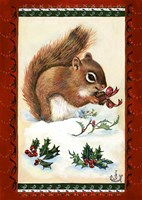 A Squirrel's Christmas Gift Fine Art Print