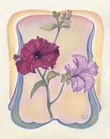 Art Deco Petunias Fine Art Print