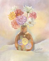 Vase Of Mums Fine Art Print