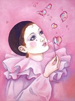 Mime With Heart Bubbles Fine Art Print