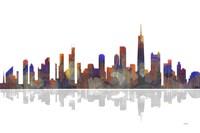 Chicago Illinois Skyline BW 2 Fine Art Print