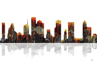 Houston Texas Skyline BW 1 Fine Art Print
