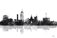 Lansing Michigan Skylines BG 1 Fine Art Print