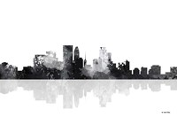 Minneapolis Minnesota Skyline BG 1 Fine Art Print