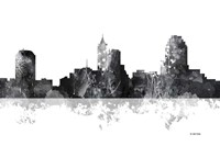 Raleigh North Carolina Skyline BG 1 Fine Art Print