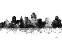 Salt Lake City Utah Skyline BG 1 Fine Art Print