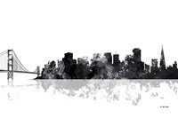 San Francisco California Skyline BG 1 Fine Art Print