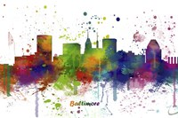 Baltimore Maryland Skyline Multi Colored 1 Fine Art Print