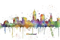 Cleveland Ohio Skyline Multi Colored 1 Fine Art Print